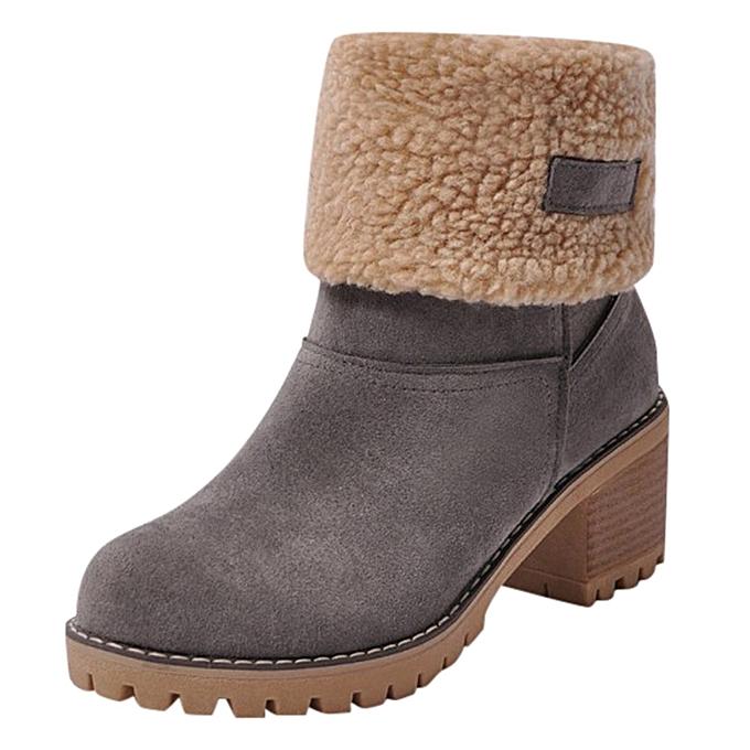 fd62d86d048a hiamok Women s Ladies Winter Shoes Flock Warm Boots Martin Snow Boots Short  Bootie