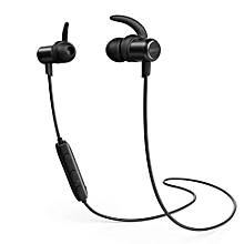 SoundBuds Slim - Wireless Bluetooth Stereo Headset – Built-in Mic, Noise Cancellation and IPX5 Water-Resistant (A3235) – Black