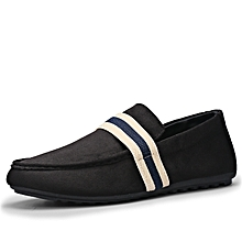 Men's British Lazy Man Boat Doug Pedaling Shoes-Black