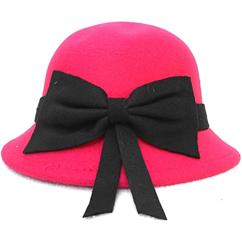 9aa821c5734 Hats Off Kids Children Girls Dome Bucket Hat with Bow - Pink   Best ...