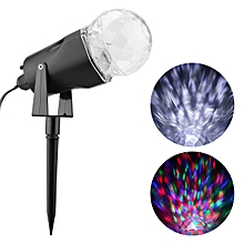 Kaleidoscope Projector LED Light Spotlight Waterproof Outdoor Yard Stake - Colorful