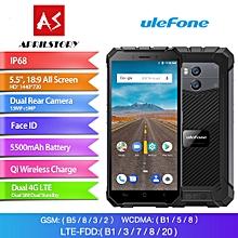 Armor X 5.5-inch (2GB, 16GB ROM) 5500mAh, Android 8.1, 13MP+8MP, IP68 Waterproof, Dual Sim 4G LTE Smartphone - Grey
