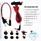 G15 game earphone noise reduction earphones Computer audio-video earphones  -Red