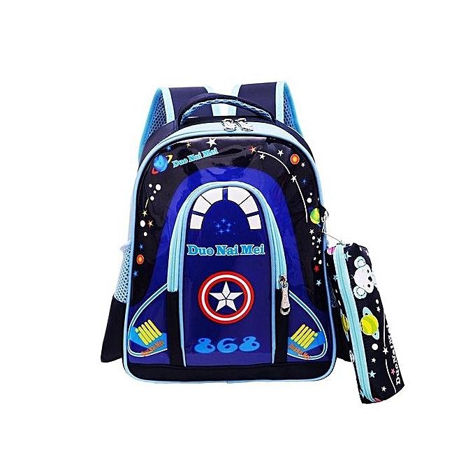 a1c553856e3 Generic 3D Boy Or Girl s Waterproof School Bag Kids Backpacks(Color ...