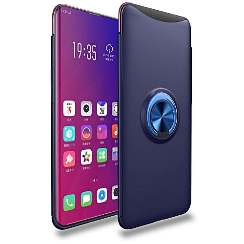 Oppo Find X Case, 360 Degree Rotating Ring Kickstand Magnetic Car Mount Function Full Protective TPU Cover Case for OPPO Find X