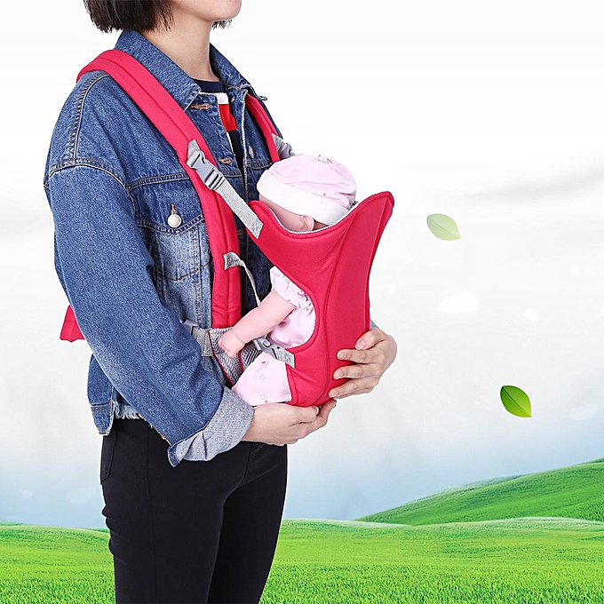 1pc Newborn Infant Baby Carrier Backpack Breathable Front Back Carrying Wrap Sling Navy Blue