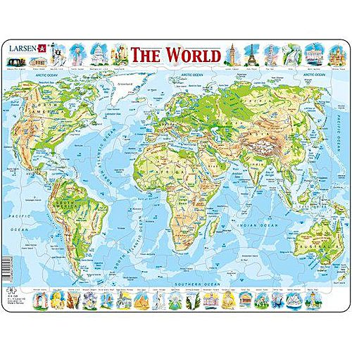 Larsen world map jigsaw puzzle buy online jumia kenya world map jigsaw puzzle gumiabroncs Image collections