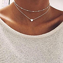 NEW Fashion Women Multilayer Love Heart Pendant Necklace Chain Jewelry