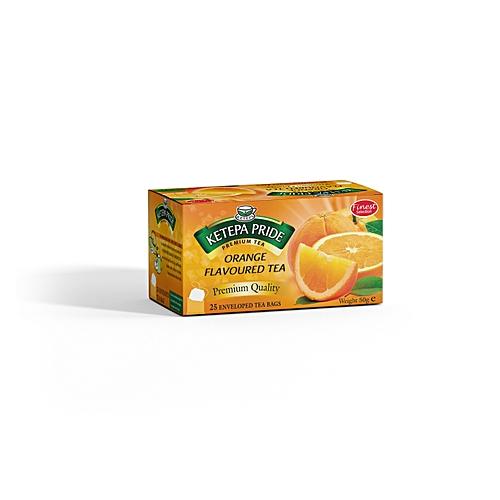 Orange Flavored Tea Bags 25 Pieces