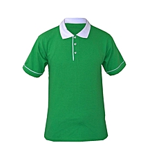 Green And White Polo Shirt