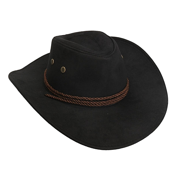 New Women Men Felt Fedora Hat Flat Felt Western Cowboy Cowgirl Hat Cap Jazz  Hat Black 5e46a27050d