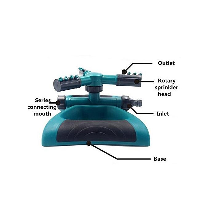 3 Arm 360° Rotary Drehsprenger Kreisregner Rasensprenger Sprinkler Impulsregner