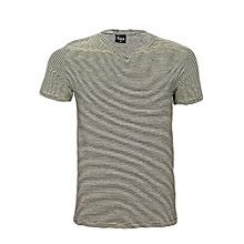 Stripped V-neck T-shirt