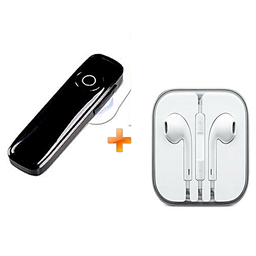 Bluetooth Headsets Mini Wireless  Earphones V4.0  - Black, Get Free Earphones For Iphone