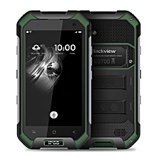 Blackview BV6000 4.7 inch 4G Smartphone Android 7.0 MTK6755 64bit Octa Core 2.0GHz 3GB RAM 32GB ROM 5MP + 13MP Cameras  IP68 Waterproof Corning Gorilla Glass 3 NFC - GREEN