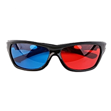 OR Black Frame Red Blue 3D Glasses For Dimensional Anaglyph Movie Game DVD