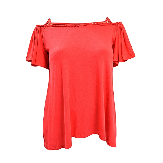 d6a85a8e89d07 JADE Collection Red Cold Shoulder Top With Glitter Straps   Best ...