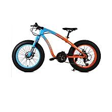 """20"""" 21 Speed Orange Blue Fat Tire Mountain Bike"""