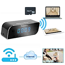 8GB 1280x720P Wifi Network Hidden Camera Clock Motion Activated Video Recorder Baby Monitor Support iPhone Android APP Remote View 160° Wide View Two Ways Audio Function JY-M