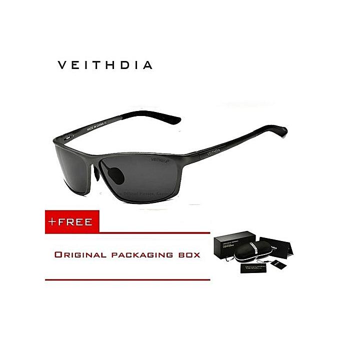 cca6878ea2615 VEITHDIA Brand Polarized Aluminum Magnesium Wrap Mens Sun Glasses Male  Sport Outdoor Sunglasses Mirror Eyewear For