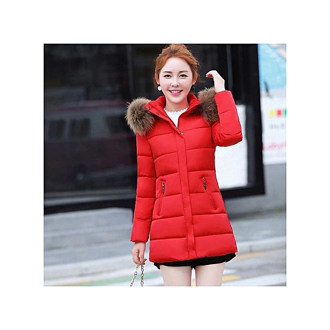 efb1410687c Hiaojbk Store Women Winter Warm Faux Fur Coat Hooded Thick Warm Slim Long  Jacket Overcoat-