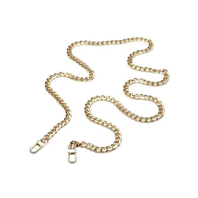 9433de563b2d1 120cm Metal Purse Chain Strap Handle Shoulder Crossbody Bag Handbag  Replacement Gold