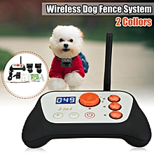 2 in 1 Wireless Dog Fence Train System Rechargeable Waterproof Adjustable Collar US