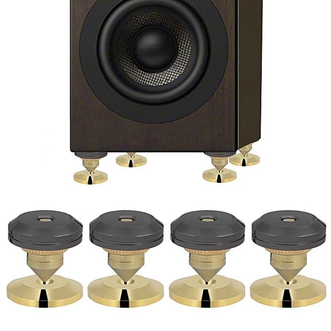 28x25mm 4 Pcs Speaker Isolation Spikes Stand Feet HiFi Speaker AMP CD Cone  Base Pads
