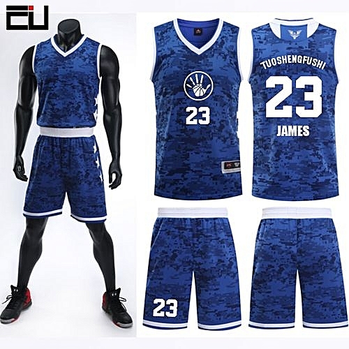 3dc36713ef61 Eufy Team And Number Customized Students Men s Basketball Sport Jersey-Blue (JL-824)