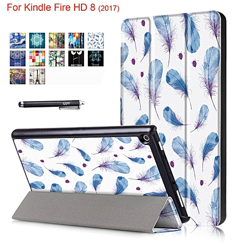 Newshine Case for Fire HD 8 2017, Trifold Smart Stand Case Auto Sleep/Wake  for All New Amazon Kindle Fire HD 8 Tablet (7th Generation, 2017 Release) &