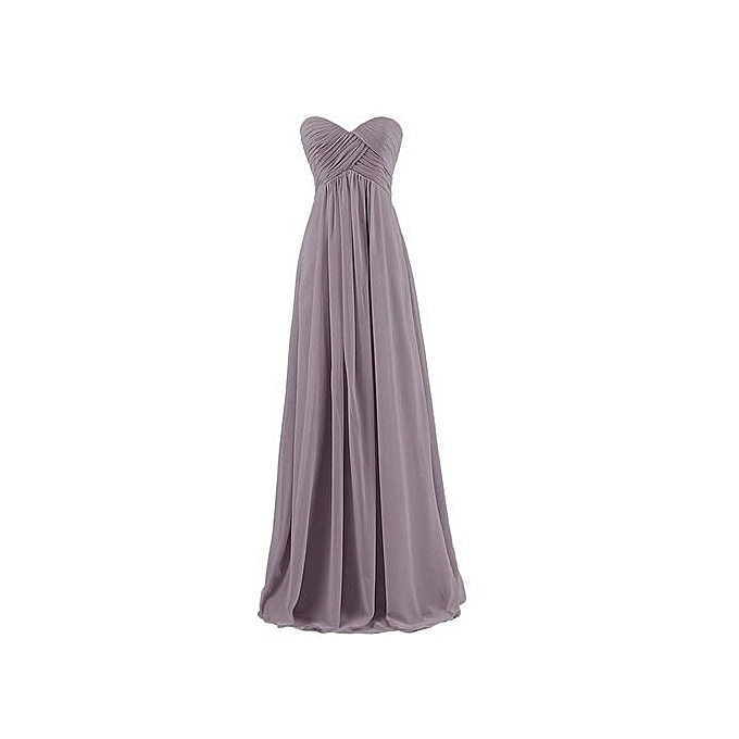 Buy Girele Womens Strapless Sweetheart Chiffon Bridesmaid Dresses ...