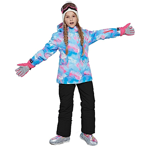 Bib Pants Snowboarding Sets Well-Educated Children Snow Suit Coats Ski Suit Sets Outdoor Gilr And Boy Skiing Snowboarding Clothing Waterproof Thermal Jacket