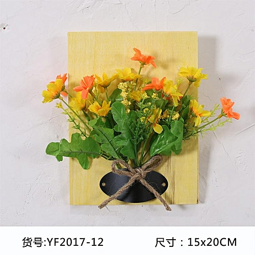 Generic Diy Artificial Flowers For Decoration Wooden Board Wall