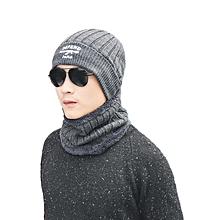 Knitted Neck Warmer Winter Hat Mask Cap Balaclava Scarf Wool  For Men Women