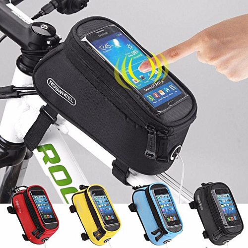 """9039935a1fe Generic Bike Bicycle Waterproof Touch Screen Frame Bag Case Holder Pouch  5.5"""" Cell Phone"""