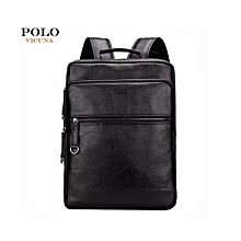 High Quality Designer Leather Backpack and Laptop Bag-Black