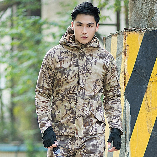 690e0b05e9d8f Generic Men Outdoor Windproof Army Military Jacket G8 Python Camouflage  Jackets Tactical Camo Python Jacket