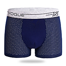Mens Mesh Breathable Solid Color Mid Rise Comfortable Boxer Underwear