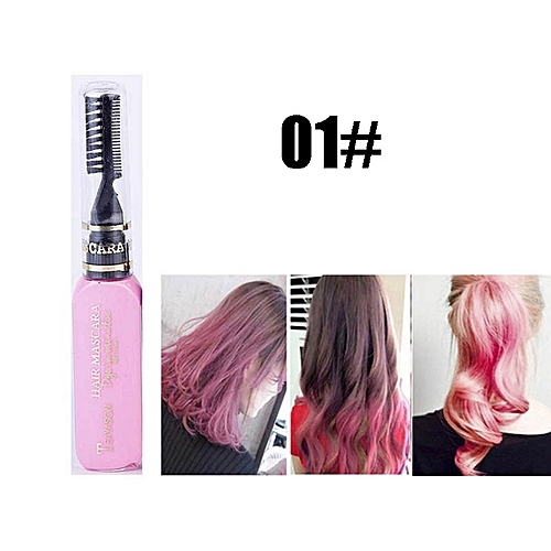 598e4121d63 Generic 13 colors one-time hair color DIY Hair Dye Temporary Non-toxic  color hair waterproof mascara blue silver white grey AM024(1)