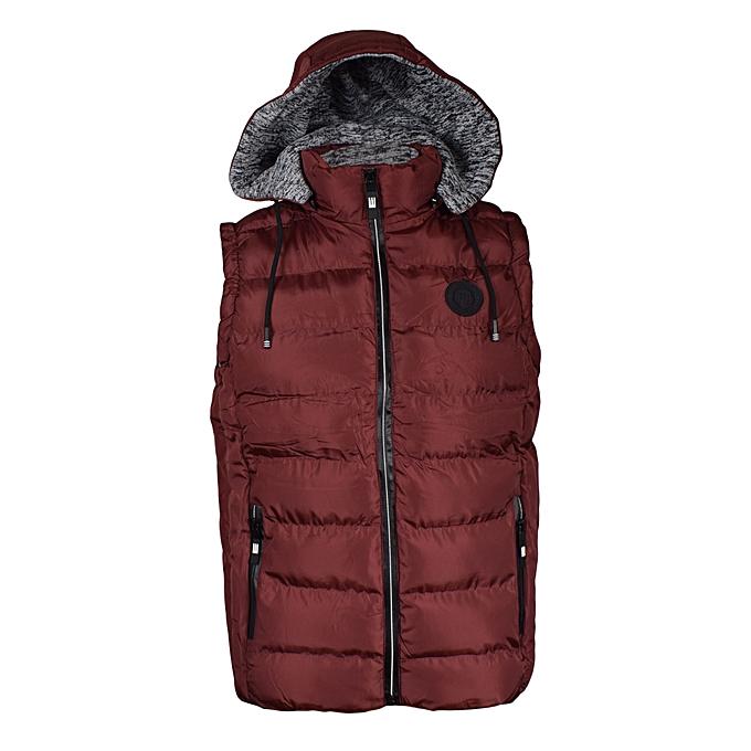 340fea38a2 Generic Maroon Sleeveless Half Puff Jacket   Best Price