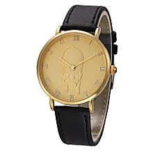 NORTH Africashop Watch  North Fashion Pig Pattern Men Quartz Wrist Watch Leather Band Watch-As picture