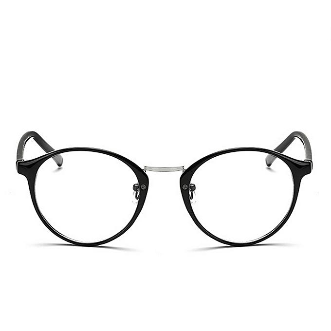 5d36ed00d Vintage Clear Lens Eyeglasses Frame Unisex Retro Round Men Women Nerd  Glasses