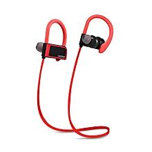 Fineblue FA - 80 Sports Wireless Bluetooth Headset Sweatproof Magnetic Earphone HD Sound Quality - RED