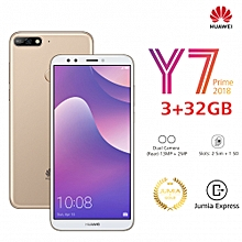 "Y7 Prime (2018) 5.99"" - 3GB Ram - 32GB Rom - Camera 13 MP - (Dual Sim) -Gold"