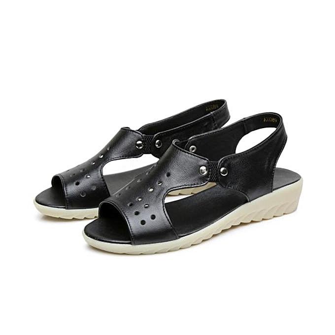 a9ec8f380eba Fashion SOCOFYFashion Women Leather Peep Toe Slip On Soft Sole Flat ...