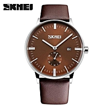 mens watches top brand luxury quartz watch casual leather men wrist watch 30m waterproof date male clock relogio masculino