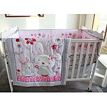 Baby Cot Bumper Set - Pink Theme .