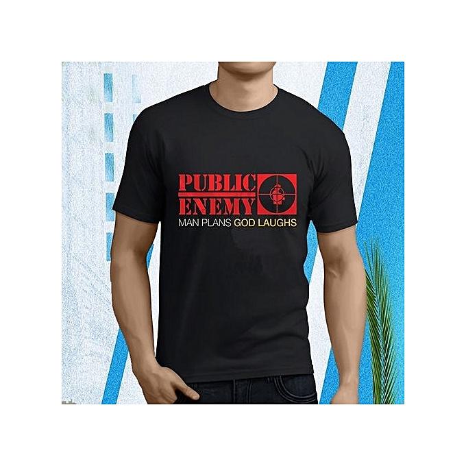 cb2a0e3d Fashion Public Enemy Age Rock Band Man Plans God Laugh's Men's Black ...