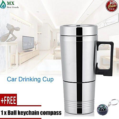 d0650049a42 Generic [free Gift] 12V/24V 300ml Car Electric Coffee Tea Water Mug Vehicle  Heating Drinking Cup Bottle 24V