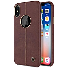 NILLKIN Englon Crazy Horse Grain Leather Protective Case For iPhone X